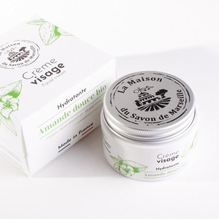 Crème Visage de jour - pot de 50ml - AMANDE DOUCE BIO