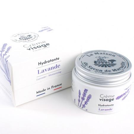 Crème Visage de jour- pot de 50ml - Aux huiles essentielles de Lavande