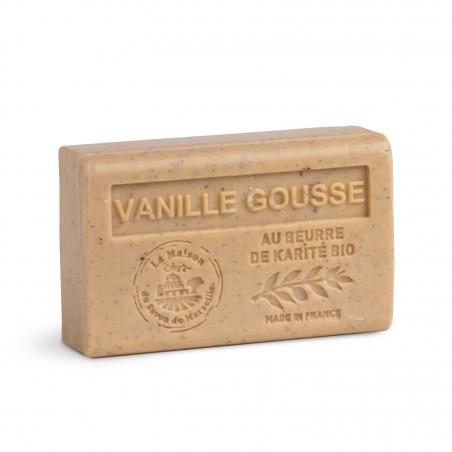 Savon 125gr au beurre de karité bio- VANILLE GOUSSE