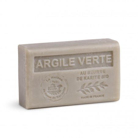 Savon 125gr au beurre de karité bio- ARGILE VERTE