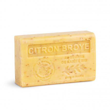 Savon 125gr au beurre de karité bio- CITRON BROYE