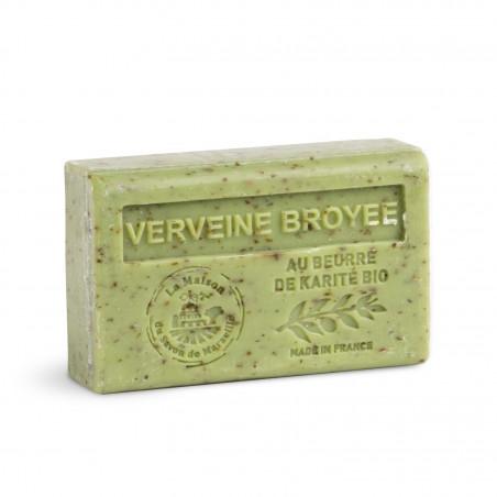 Savon 125gr au beurre de karité bio- VERVEINE BROYEE