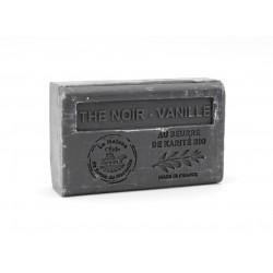 Savon 125gr au beurre de karité bio- THE NOIR VANILLE