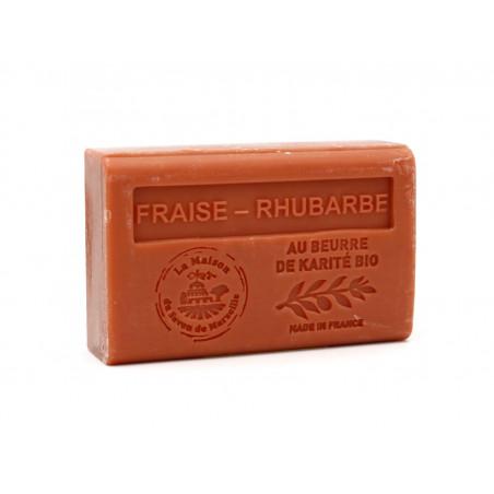 Savon 125gr au beurre de karité bio- FRAISE RHUBARBE