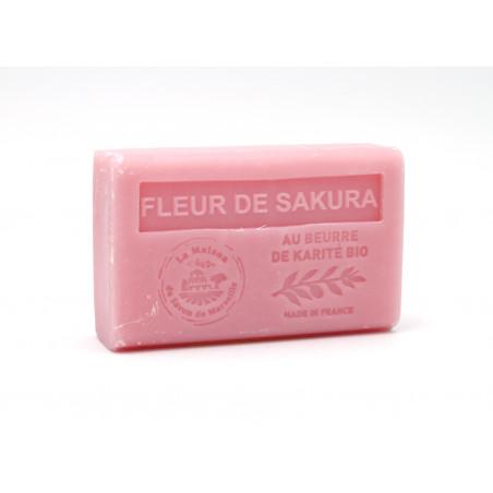 Savon 125gr au beurre de karité bio- FLEUR DE SAKURA