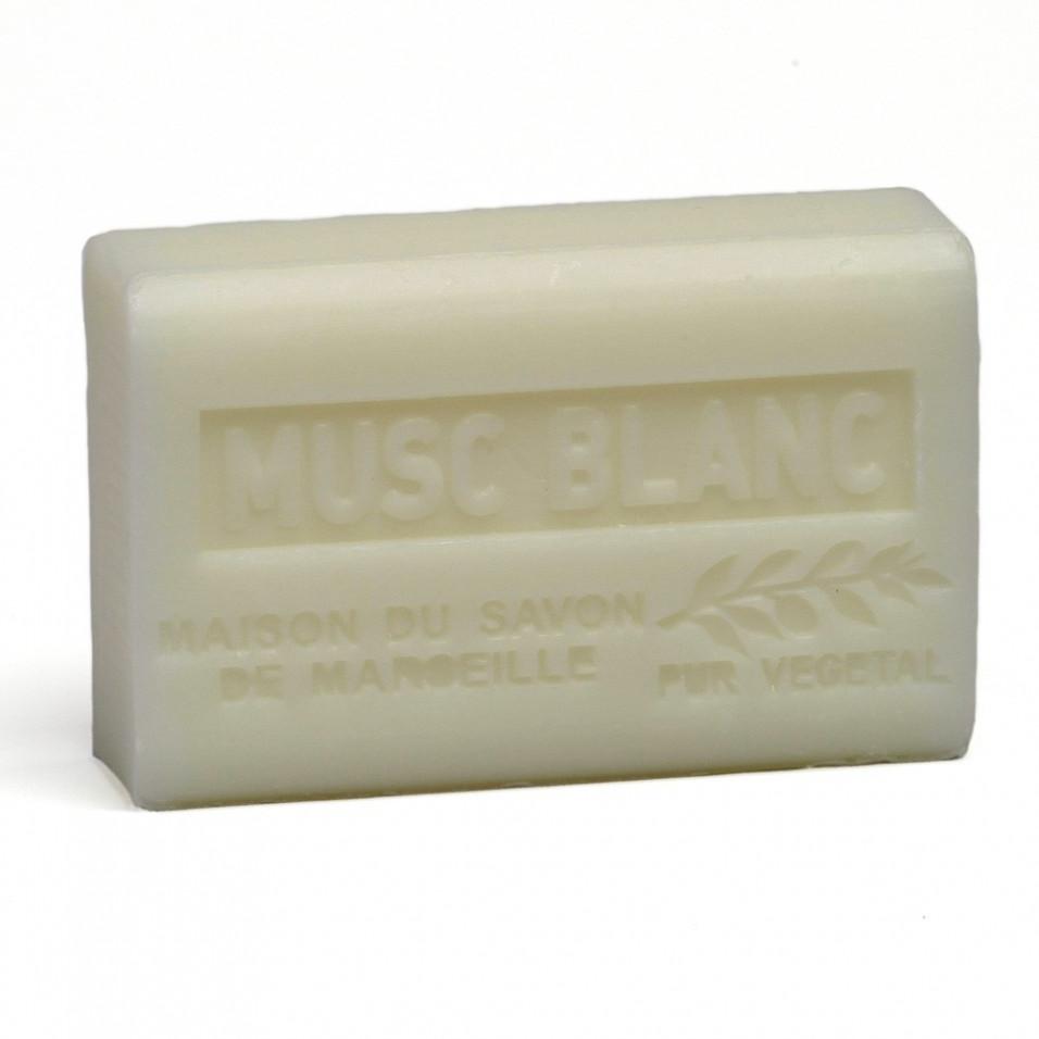 Savon 125gr au beurre de karité bio- MUSC BLANC