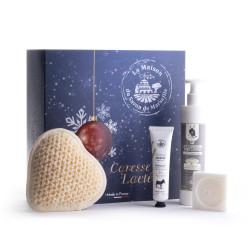 Coffret Premium 'CARESSE LACTEE' de Noël - Lait d'ânesse