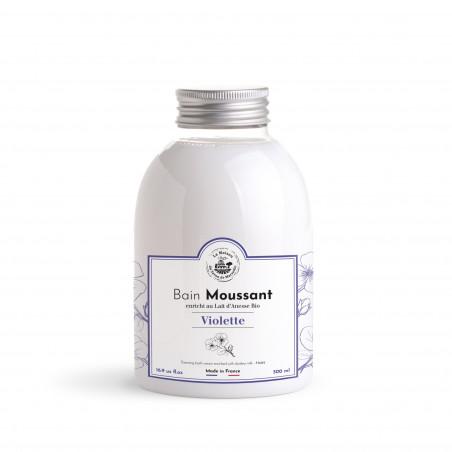 Bain moussant au Lait d'ânesse Bio sans SLS - 500ml - parfum Violette