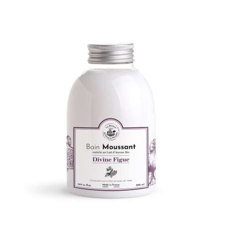 Bain moussant au Lait d'ânesse Bio sans SLS - 500ml - parfum 'Divine Figue'