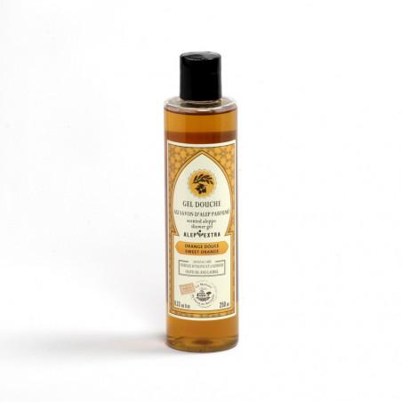 Gel douche au savon d'Alep parfumé - huiles essentielles d'Orange douce
