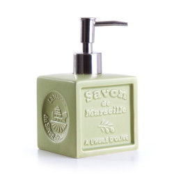 Distributeur céramique - vert olive