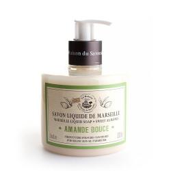Savon liquide de Marseille 330ml AMANDE DOUCE - Huile d'olive Bio